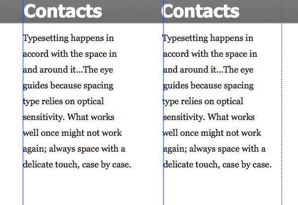 Typesetting with Guides