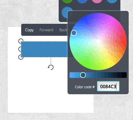 Canva Colour Wheel