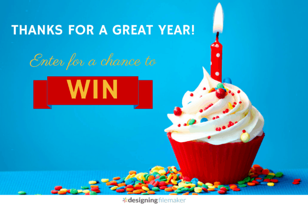 Designing FileMaker Turns One! Enter For A Chance To Win