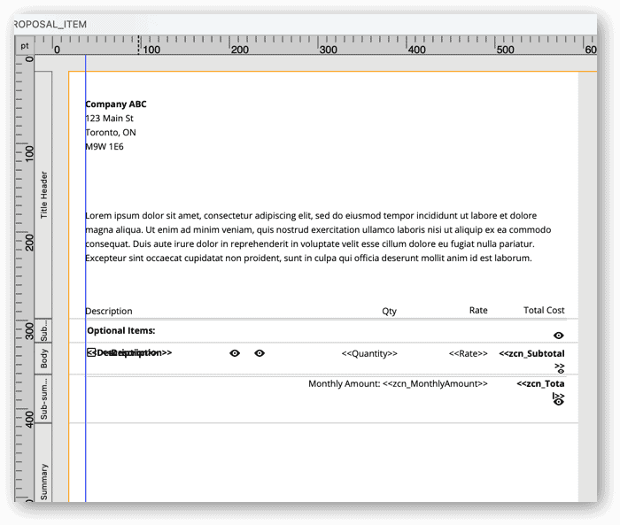 FileMaker Pro subsummary report layout mode